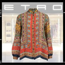 ETRO Silk Puffed Sleeves Long Sleeves Medium Elegant Style