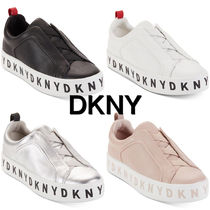 DKNY Platform Casual Style Leather Low-Top Sneakers