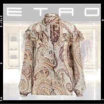 ETRO Paisley Silk Puffed Sleeves Long Sleeves Medium