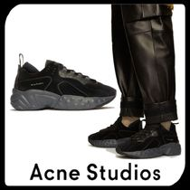 Acne Suede Street Style Plain Oversized Sneakers