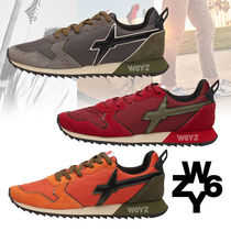 W6YZ Suede Blended Fabrics Street Style Bi-color Leather