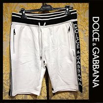Dolce & Gabbana Sweat Street Style Plain Cotton Joggers Shorts