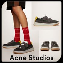 Acne Suede Blended Fabrics Street Style Bi-color Leather Sneakers