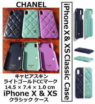 CHANEL TIMELESS CLASSICS Unisex Leather Smart Phone Cases
