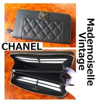 CHANEL MADEMOISELLE Unisex Leather Long Wallets