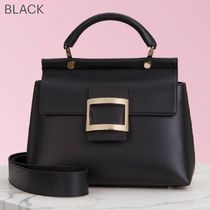 Roger Vivier Casual Style Blended Fabrics 2WAY Bi-color Plain Leather