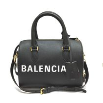 BALENCIAGA VILLE Saffiano Leather Boston & Duffles