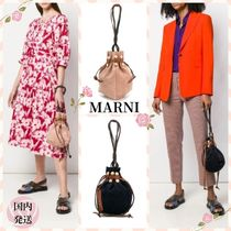 MARNI Casual Style Calfskin Suede Blended Fabrics 2WAY Bi-color
