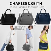Charles&Keith Casual Style Faux Fur A4 2WAY Plain Party Style Office Style