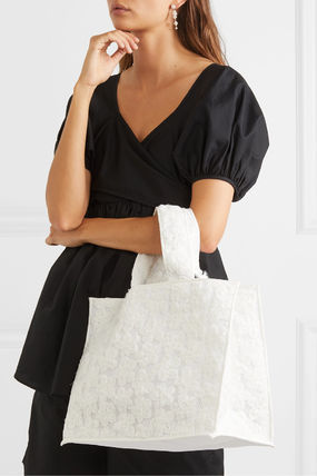Casual Style Street Style Plain Totes