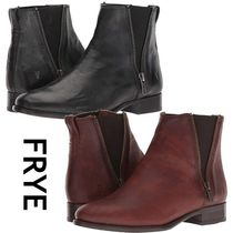 FRYE Casual Style Plain Leather Block Heels Chelsea Boots