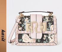 River Island Flower Patterns Casual Style Faux Fur 2WAY Shoulder Bags