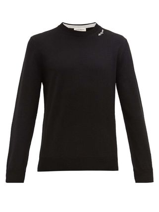 alexander mcqueen Knits & Sweaters Crew Neck Pullovers Long Sleeves Plain Cotton 2
