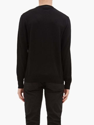 alexander mcqueen Knits & Sweaters Crew Neck Pullovers Long Sleeves Plain Cotton 6