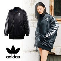 adidas Stripes Casual Style Street Style Plain Long Oversized