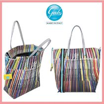 gabs Stripes Casual Style 2WAY Office Style Handbags
