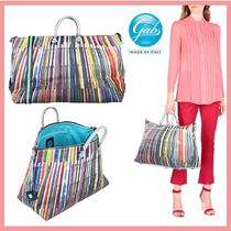 gabs Stripes Casual Style 2WAY Plain Office Style Handbags