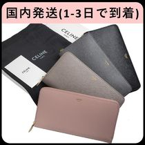 CELINE Unisex Plain Long Wallet  Logo Long Wallets