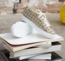 M. MOUSTACHE Casual Style Leather Office Style Logo Low-Top Sneakers