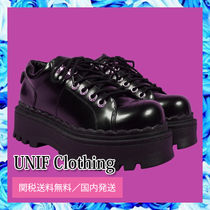 UNIF Clothing Platform Lace-up Casual Style Plain Shoes