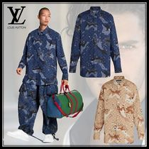 Louis Vuitton Camouflage Long Sleeves Cotton Long Sleeve T-Shirts