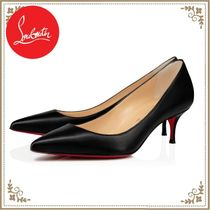 Christian Louboutin Leather Pin Heels Stiletto Pumps & Mules