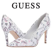 Guess Leather Party Style Pointed Toe Pumps & Mules