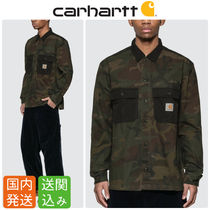Carhartt Camouflage Long Sleeves Cotton Shirts