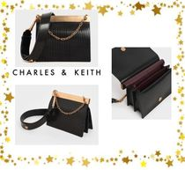 Charles&Keith Faux Fur Chain Party Style Elegant Style Party Bags
