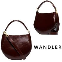 WANDLER Casual Style 2WAY Leather Shoulder Bags