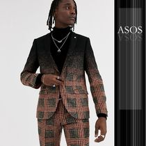 ASOS Other Check Patterns Wool Blended Fabrics Blazers Jackets