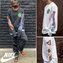Nike Crew Neck Unisex Street Style Long Sleeves Cotton