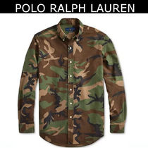 POLO RALPH LAUREN Camouflage Street Style Long Sleeves Shirts