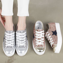 Star Platform Round Toe Casual Style Faux Fur