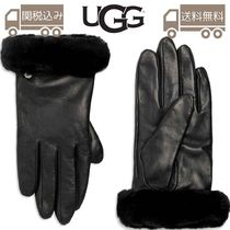 UGG Australia Leather Shearling Leather & Faux Leather Gloves