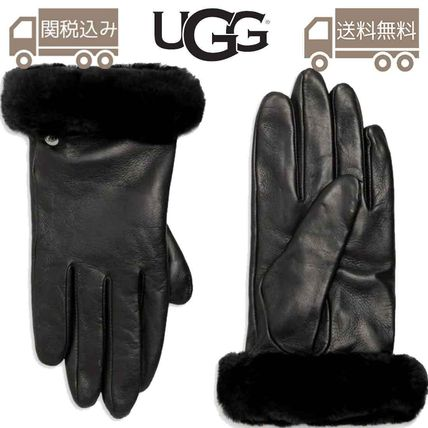 Leather Leather & Faux Leather Gloves