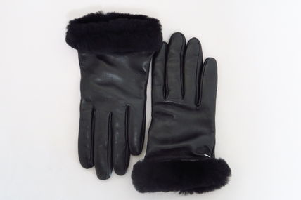 Leather Shearling Leather & Faux Leather Gloves