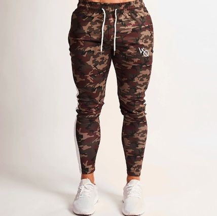 Tapered Pants Camouflage Cotton Logo Tapered Pants