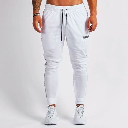 Tapered Pants Street Style Logo Tapered Pants