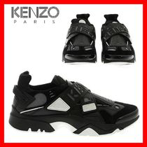 KENZO Suede Plain Leather Sneakers