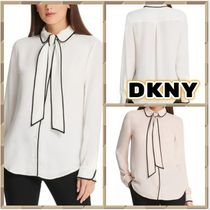 DKNY Long Sleeves Plain Medium Party Style Office Style