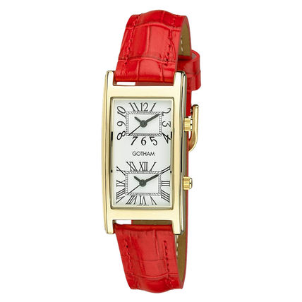 Gotham Casual Style Leather Party Style Quartz Watches Office Style