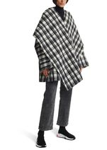BALENCIAGA Tartan Casual Style Wool Bi-color Medium Oversized Coats