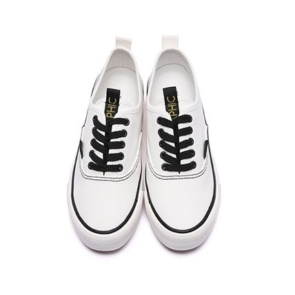 Rubber Sole Casual Style Unisex Blended Fabrics Street Style