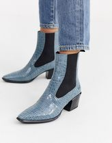 Vagabond Casual Style Leather Python Ankle & Booties Boots