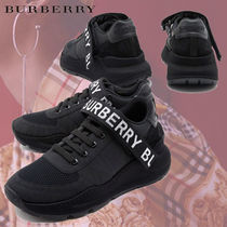 Burberry Suede Leather Low-Top Sneakers