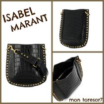 Isabel Marant Casual Style Studded Leather Shoulder Bags