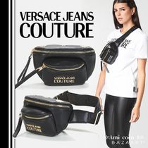 VERSACE Casual Style Street Style Plain Shoulder Bags