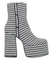 Naked Wolfe Other Check Patterns Leather Boots Boots