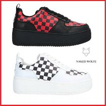 Naked Wolfe Unisex Street Style Leather Low-Top Sneakers